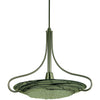 Framburg Pendants Mahogany Bronze with Gold Leaf Glass Shade 1-Light Mahogany Bronze Brocatto Pendant by Framburg 1099