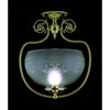 Framburg Flush/Semi Flush Mounts Polished Brass 1-Light Polished Brass Chancery Flush / Semi-Flush Mount by Framburg 7811