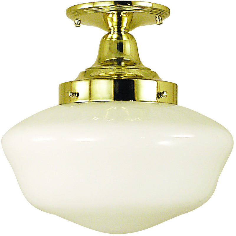 Framburg Flush/Semi Flush Mounts Polished Brass 1-Light Polished Brass Taylor Flush / Semi-Flush Mount by Framburg 2555