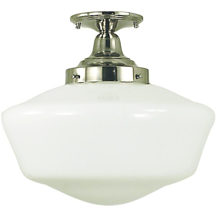 Framburg Flush/Semi Flush Mounts Polished Silver 1-Light Polished Silver Taylor Flush / Semi-Flush Mount by Framburg 2558