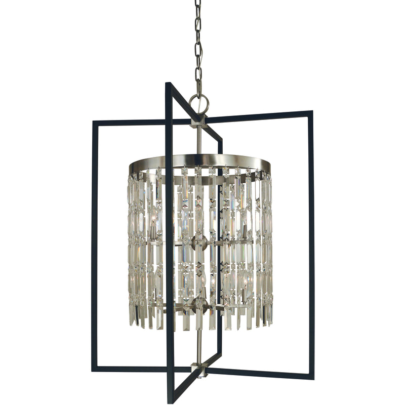 Framburg Foyer Chandeliers Brushed Nickel/Matte Black 10-Light Brushed Nickel/Matte Black Hannah Foyer Chandelier by Framburg 5338
