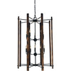 Framburg Foyer Chandeliers Matte Black 10-Light Matte Black Modern Farmhouse Foyer Chandelier by Framburg 5408