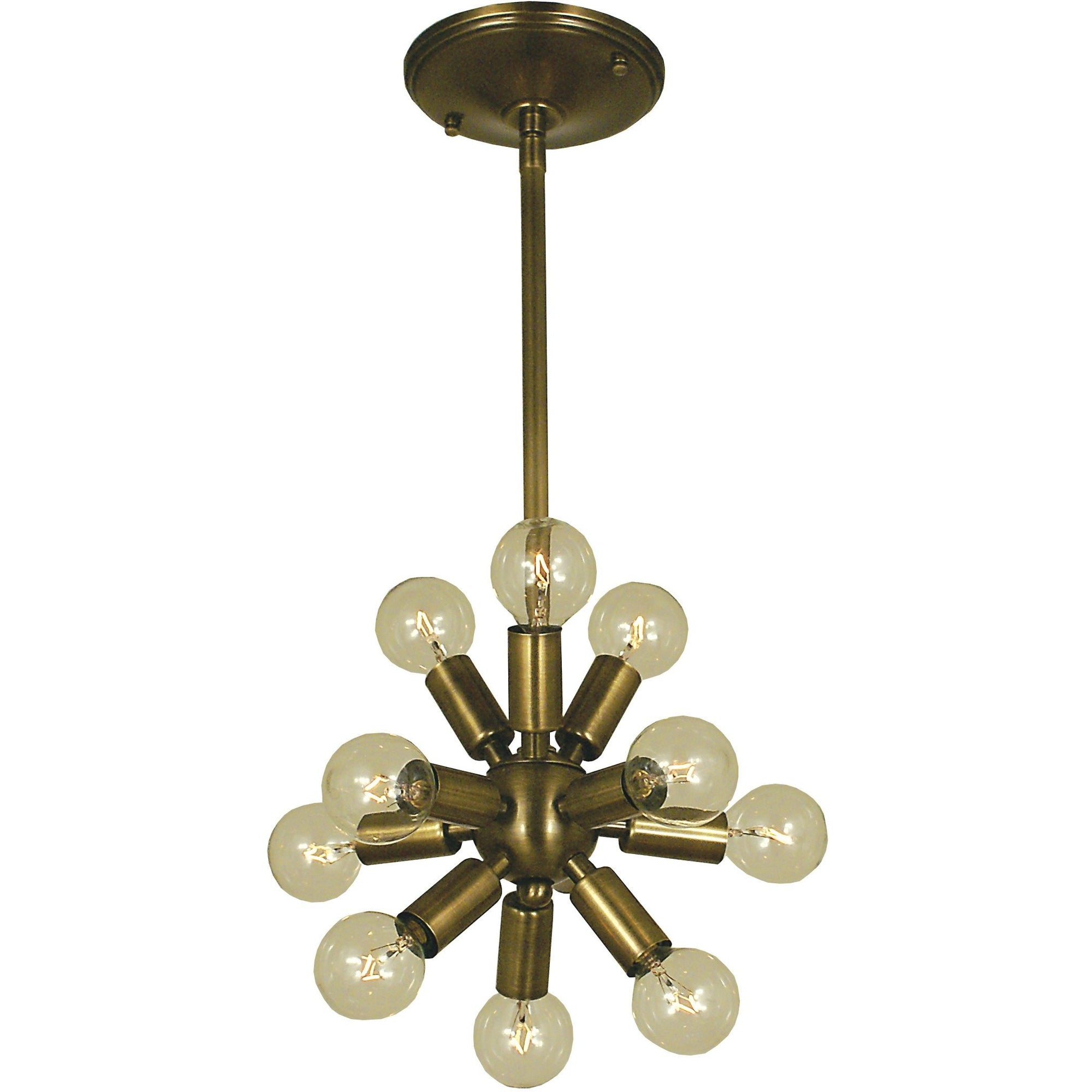 Framburg Mini Chandeliers Antique Brass 11-Light Antique Brass Simone Chandelier by Framburg 4391