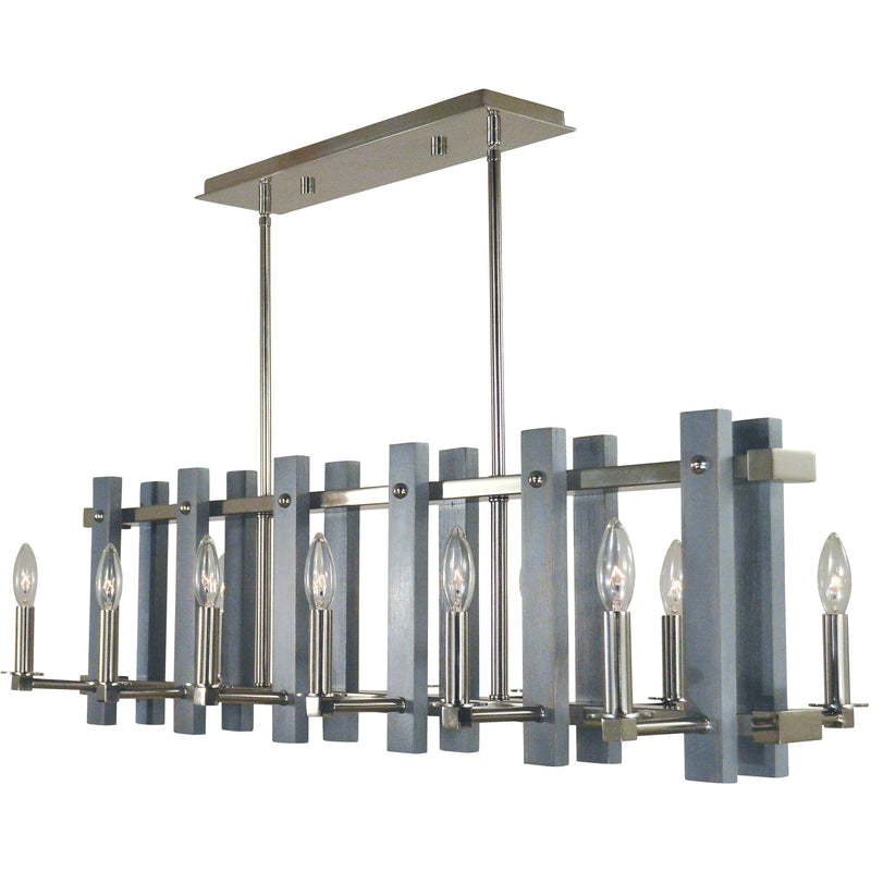 Framburg Island Lighting Polished Nickel 12-Light Arcadia Island Chandelier by Framburg 5127