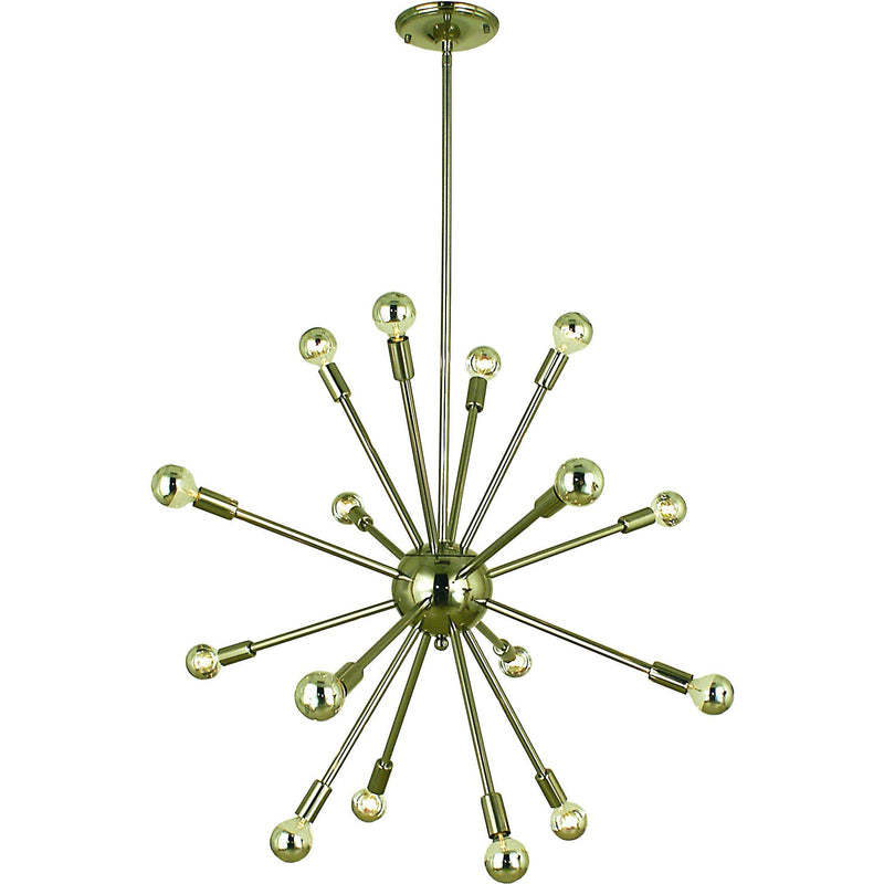 Framburg Foyer Chandeliers Polished Nickel 16-Light Polished Nickel Simone Chandelier by Framburg 4395