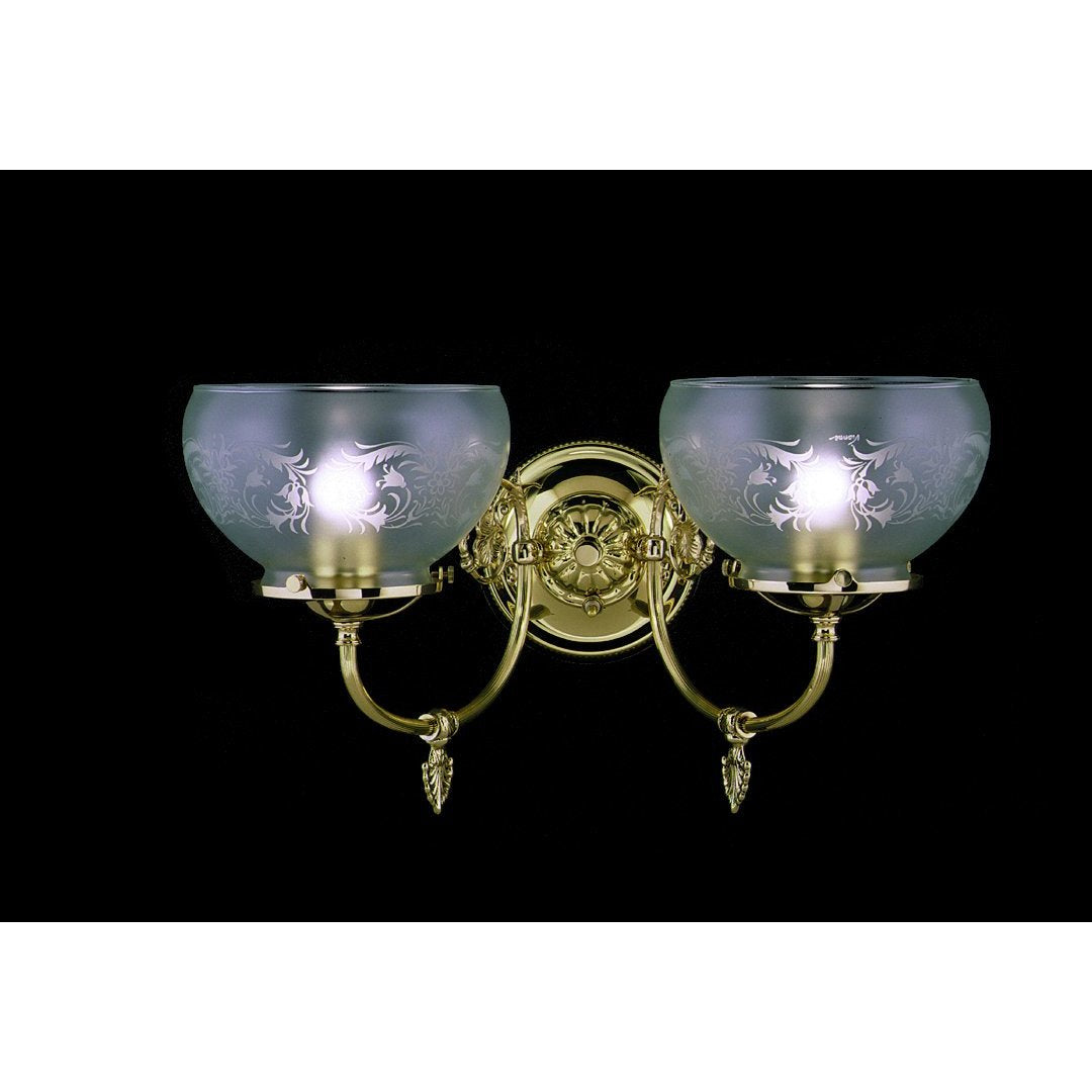 Framburg Wall Sconces Polished Brass 2-Light Polished Brass Chancery Sconce by Framburg 7522