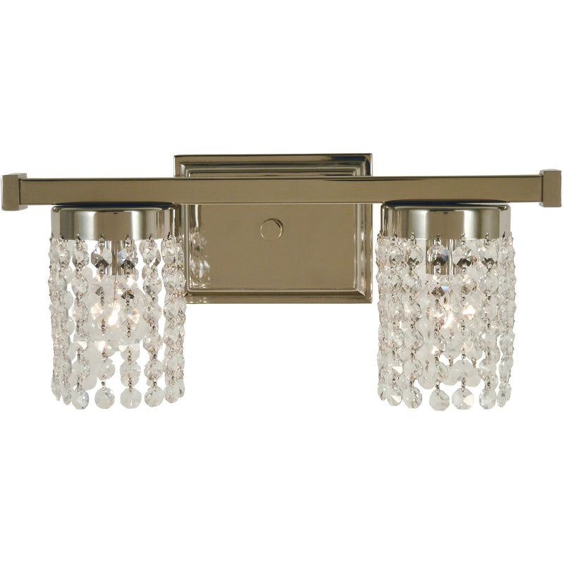 Framburg Wall Sconces Polished Nickel 2-Light Polished Nickel Gemini Sconce by Framburg 4742