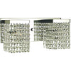 Framburg Wall Sconces Polished Silver with Clear Crystal 2-Light Polished Silver Crystal Gemini Sconce by Framburg 1992