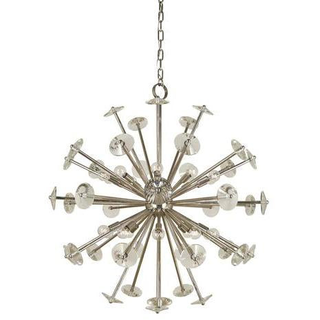 Framburg Foyer Chandeliers Polished Nickel 20-Light Polished Nickel Apogee Foyer Chandelier by Framburg 4816