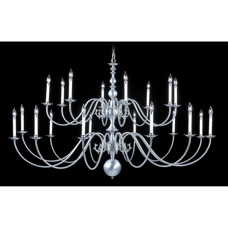 Framburg Foyer Chandeliers Satin Pewter 20-Light Satin Pewter Jamestown Foyer Chandelier by Framburg 9145