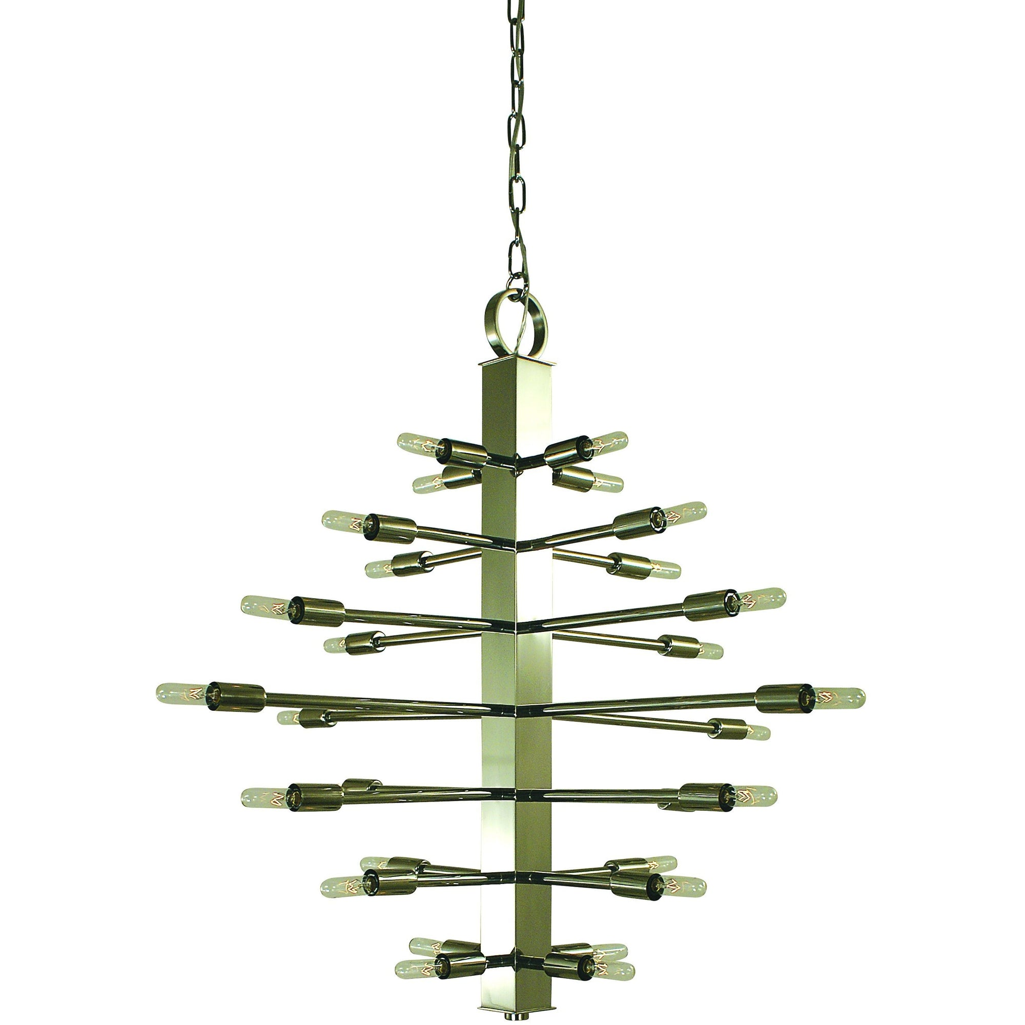 Framburg Foyer Chandeliers Polished Nickel 28-Light Polished Nickel Simone Chandelier by Framburg 4408