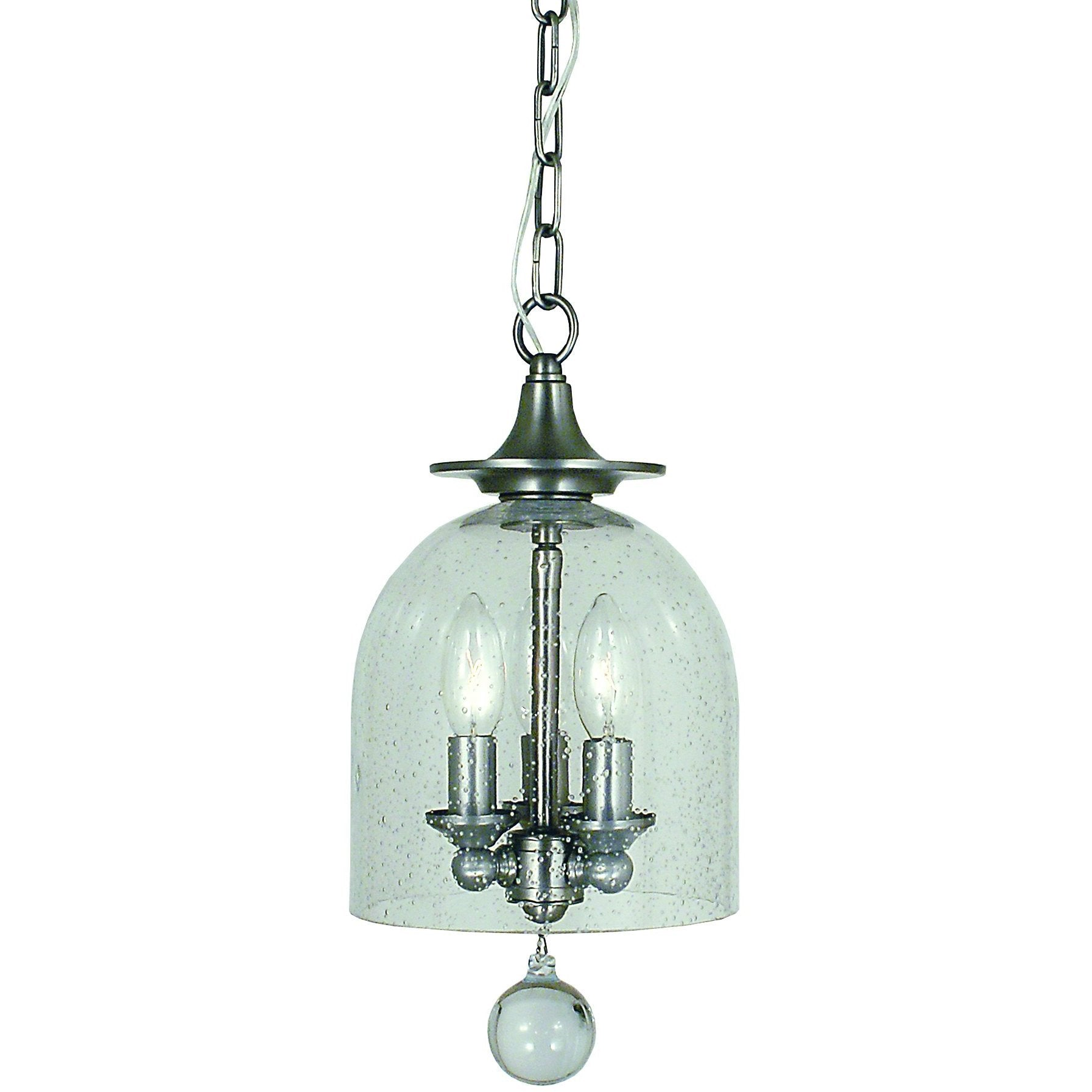 Framburg Mini Chandeliers Brushed Nickel 3-Light Brushed Nickel Hannover Pendant by Framburg 4351
