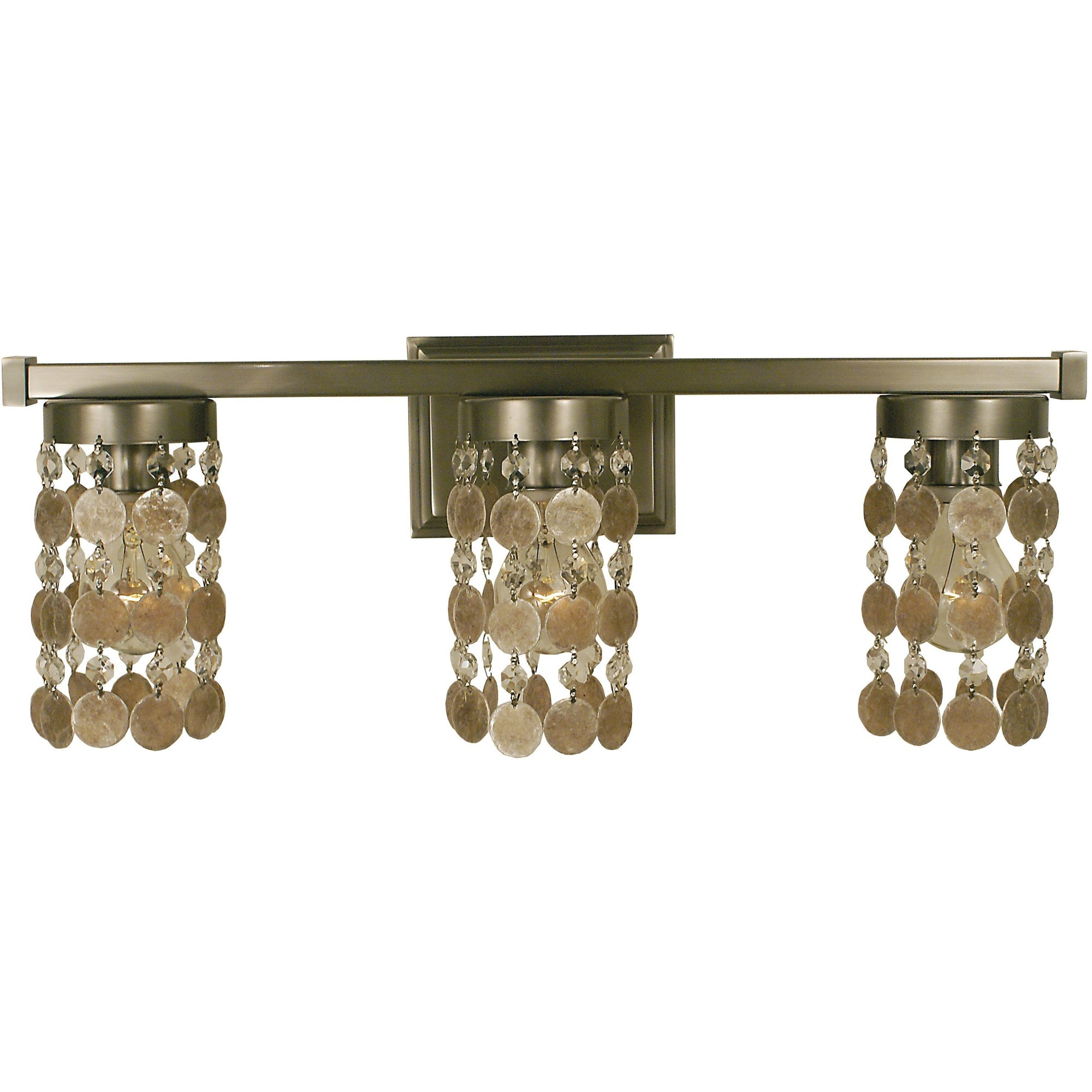 Framburg Wall Sconces Brushed Nickel 3-Light Brushed Nickel Naomi Sconce by Framburg 4363