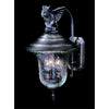 Framburg Exterior Wall Mounts Iron 3-Light Iron Carcassonne Exterior Wall Mount by Framburg 8505