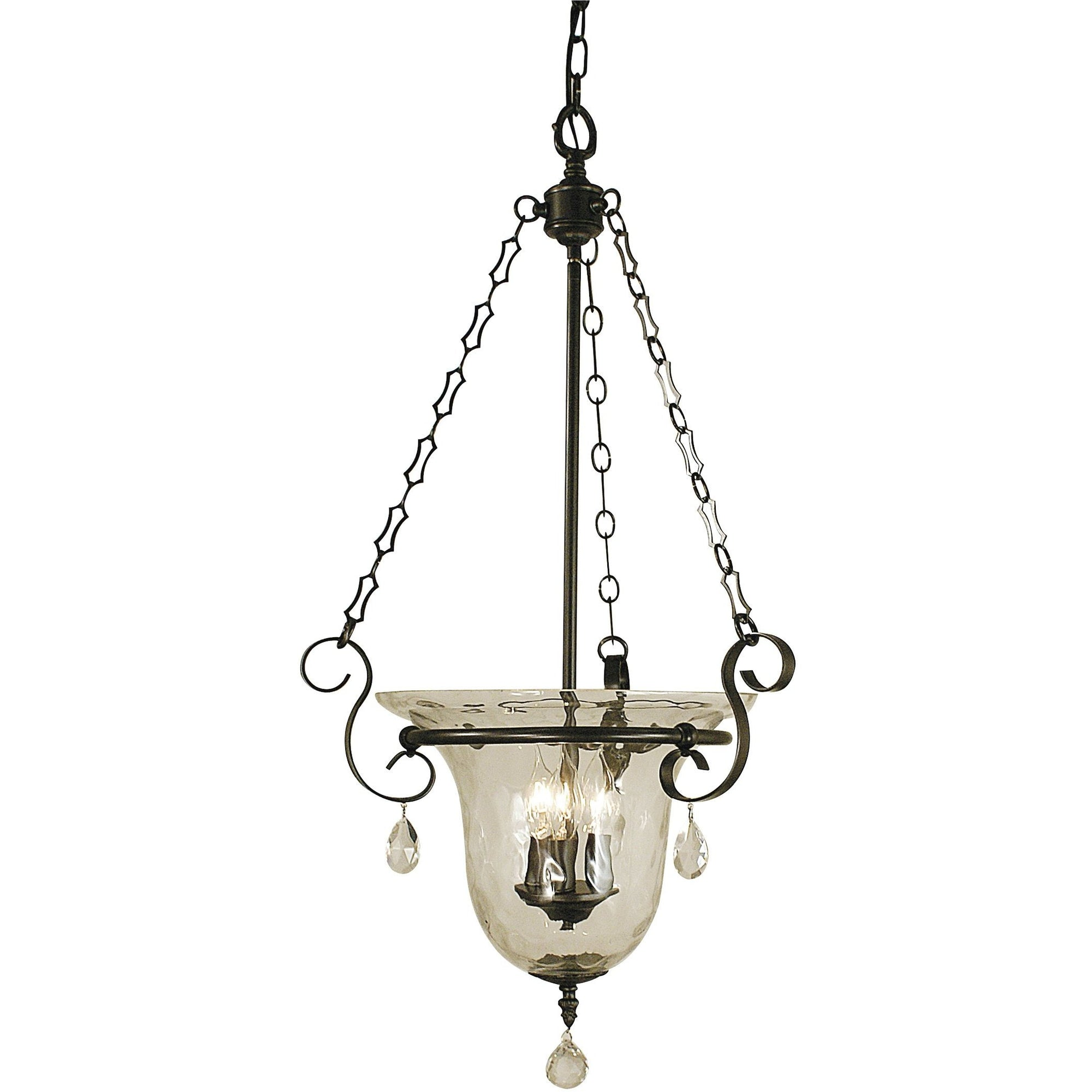 Framburg Foyer Chandeliers Mahogany Bronze 3-Light Mahogany Bronze Carcassonne Foyer Chandelier by Framburg 2919