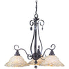 Framburg Chandeliers Mahogany Bronze 3-Light Mahogany Bronze Liebestraum Dinette Chandelier by Framburg 9728