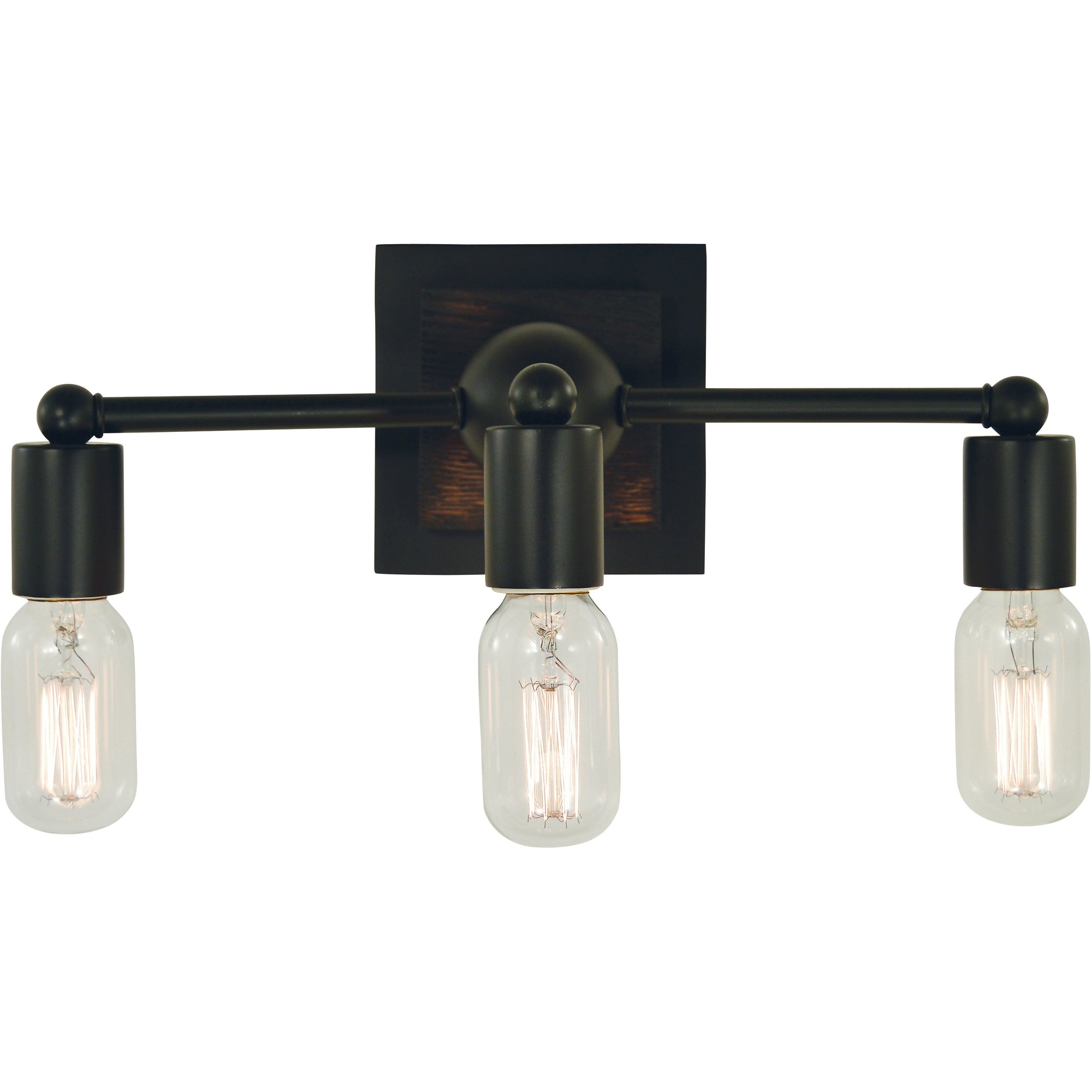 Framburg Wall Sconces Matte Black 3-Light Matte Black Modern Farmhouse Sconce by Framburg 5403