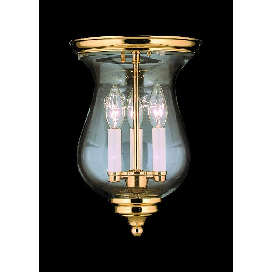 Framburg Flush & Semi Flush Mounts Polished Brass 3-Light Polished Brass Jamestown Flush / Semi-Flush Mount by Framburg 7572