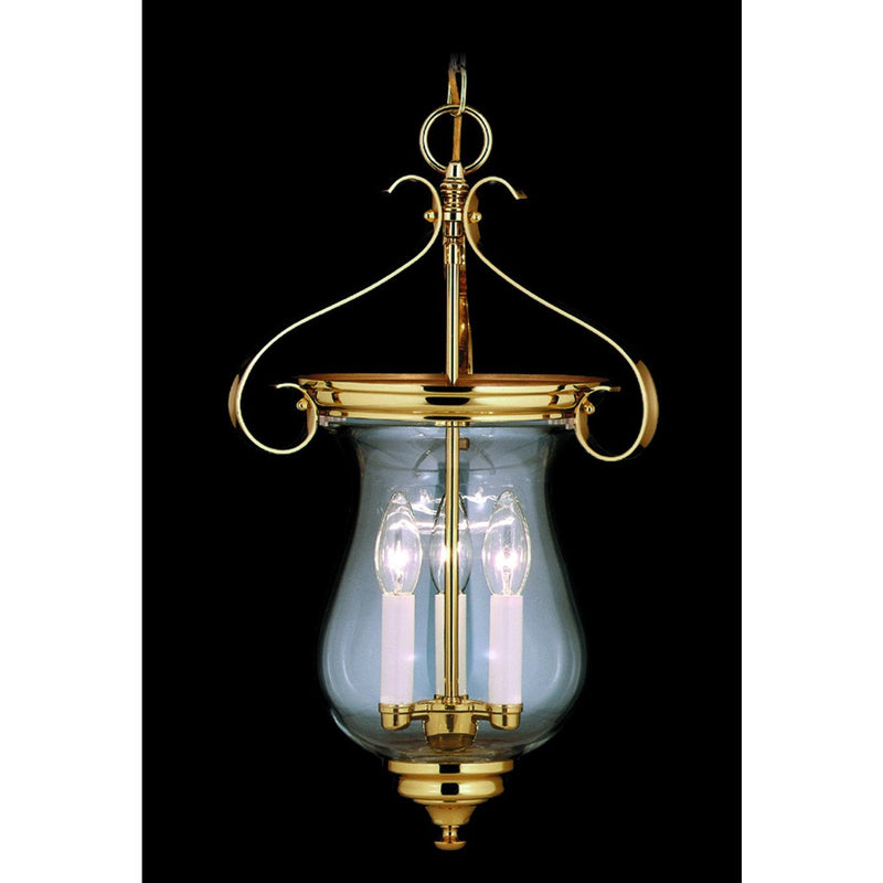 Framburg Foyer Chandeliers Polished Brass 3-Light Polished Brass Jamestown Foyer Chandelier by Framburg 7573