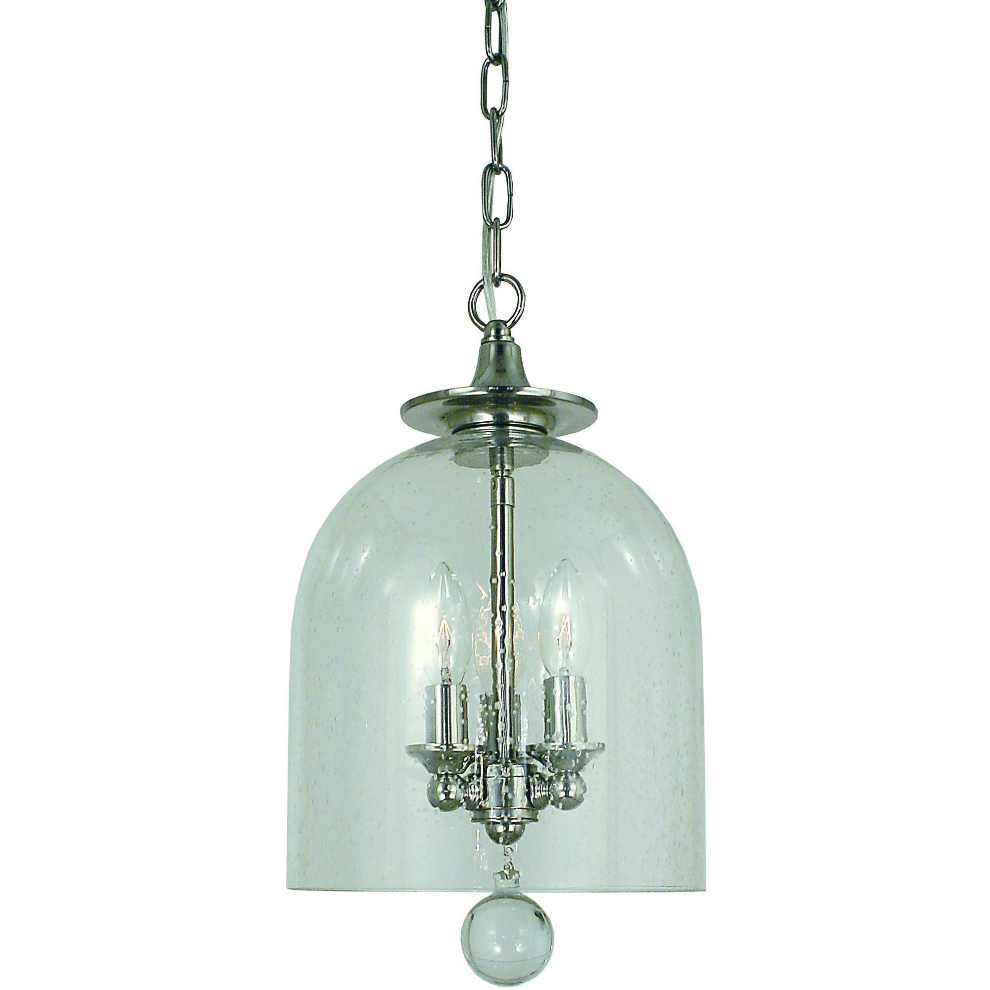 Framburg Mini Chandeliers Polished Nickel 3-Light Polished Nickel Hannover Pendant by Framburg 4353