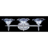 Framburg Wall Sconces Polished Silver 3-Light Polished Silver Geneva Sconce by Framburg 8733