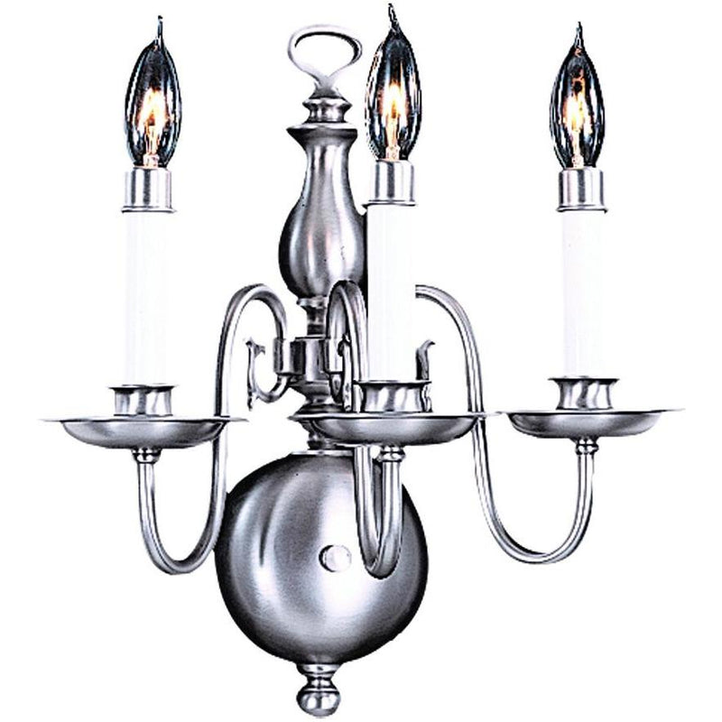 Framburg Wall Sconces Satin Pewter 3-Light Satin Pewter Jamestown Sconce by Framburg 9123