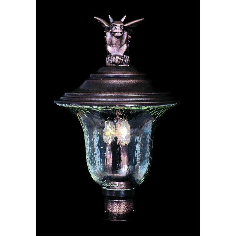 Framburg Exterior Post Mounts Siena Bronze 3-Light Siena Bronze Carcassonne Exterior Post Mount by Framburg 8509