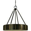"Framburg Pendants Mahogany Bronze with Antique Brass 4-Light 23"" Mahogany Bronze/Antique Brass Pantheon Pendant by Framburg 4594"