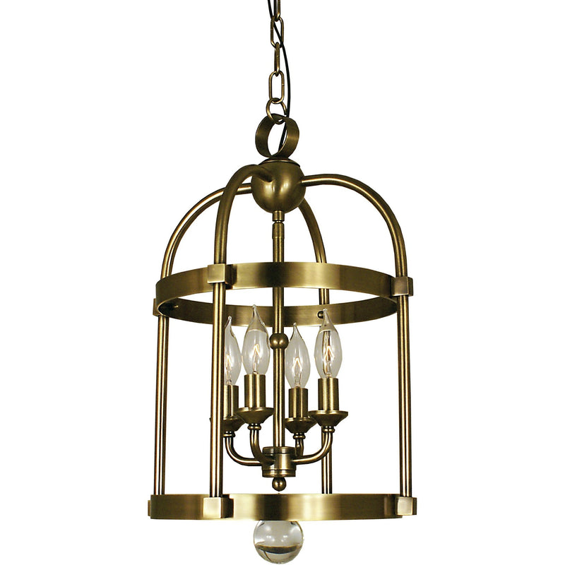 Framburg Mini Chandeliers Antique Brass 4-Light Antique Brass Compass Mini Chandelier by Framburg 1103