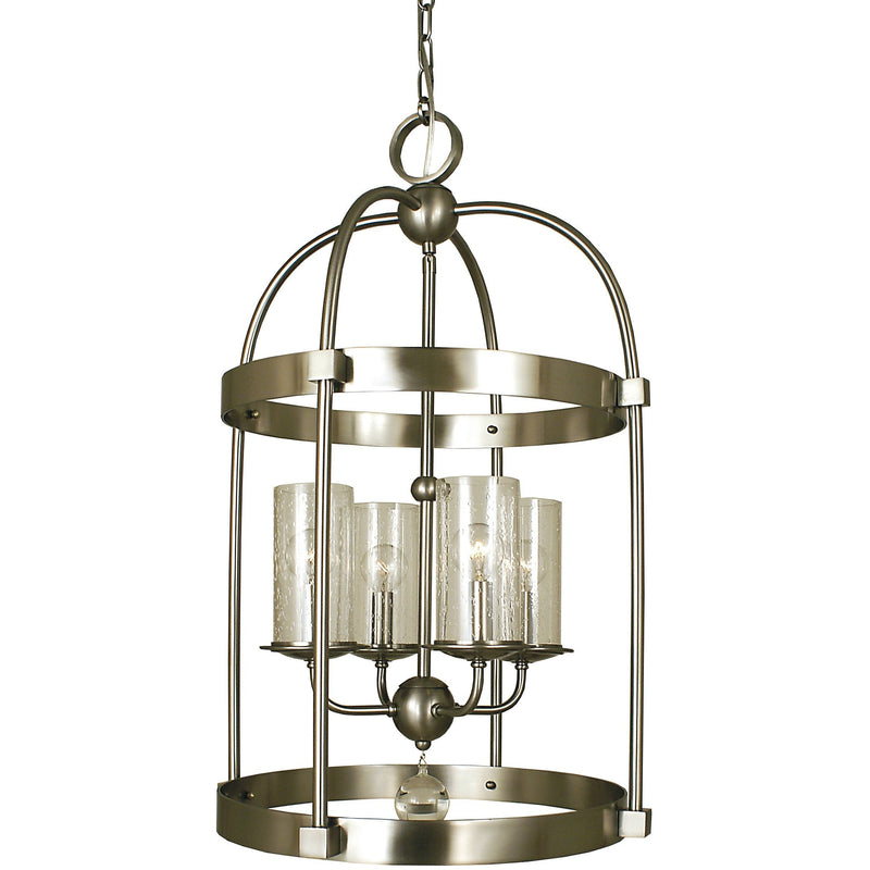 Framburg Chandeliers Brushed Nickel 4-Light Brushed Nickel Compass Dining Chandelier by Framburg 1104