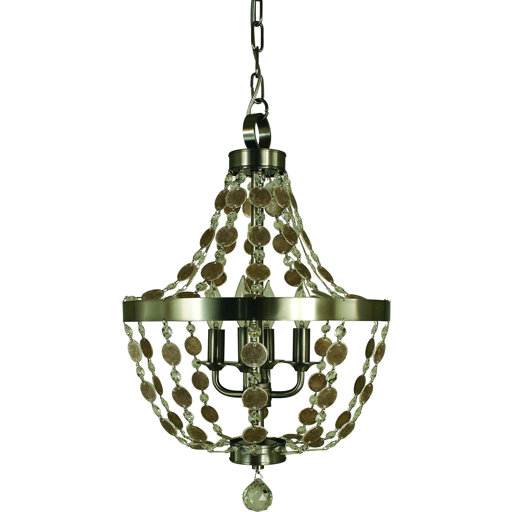 Framburg Mini Chandeliers Brushed Nickel 4-Light Brushed Nickel Naomi Chandelier by Framburg 4484