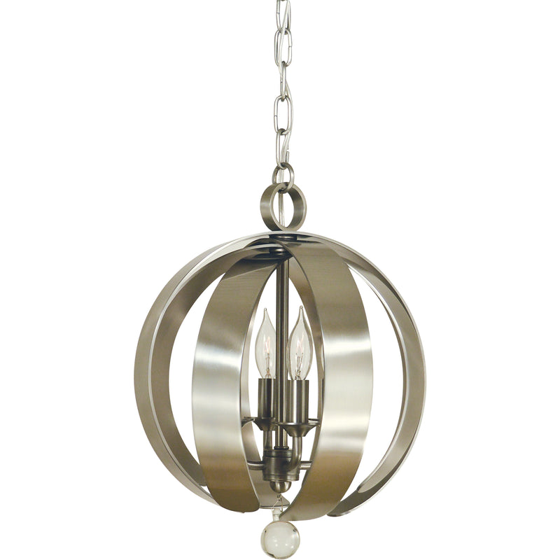 Framburg Mini Chandeliers Brushed Nickel 4-Light Brushed Nickel Venus Chandelier by Framburg 4777