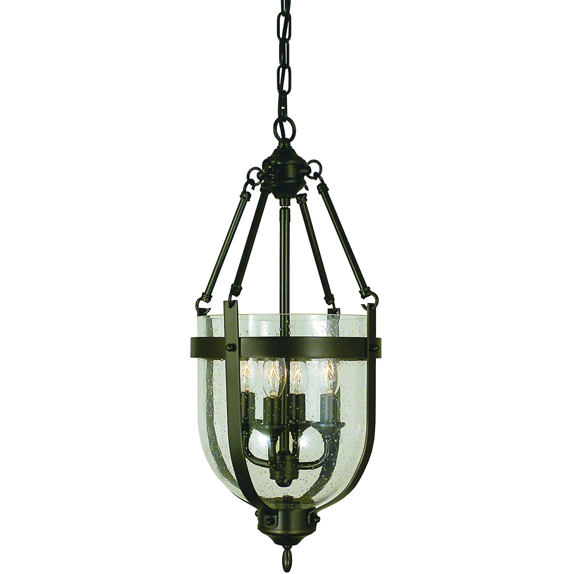Framburg Mini Chandeliers Mahogany Bronze 4-Light Mahogany Bronze Hannover Mini-Chandelier by Framburg 1014