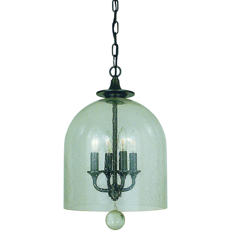 Framburg Mini Chandeliers Mahogany Bronze 4-Light Mahogany Bronze Hannover Pendant by Framburg 4355