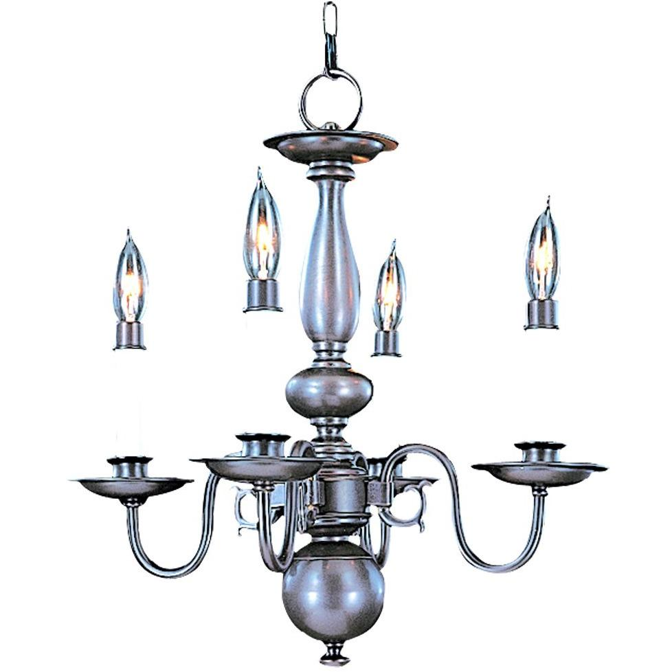 Framburg Mini Chandeliers Mahogany Bronze 4-Light Mahogany Bronze Jamestown Mini Chandelier by Framburg 9143