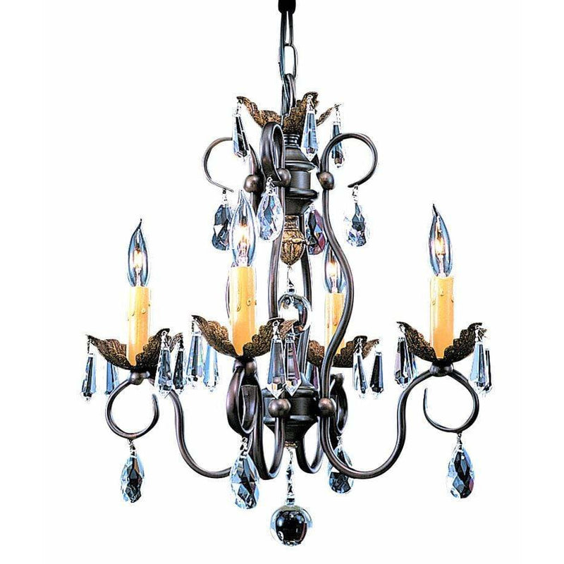Framburg Mini Chandeliers Mahogany Bronze 4-Light Mahogany Bronze Liebestraum Mini Chandelier by Framburg 9904