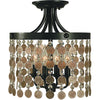Framburg Flush & Semi Flush Mounts Mahogany Bronze 4-Light Mahogany Bronze Naomi Flush / Semi-Flush Mount by Framburg 2482