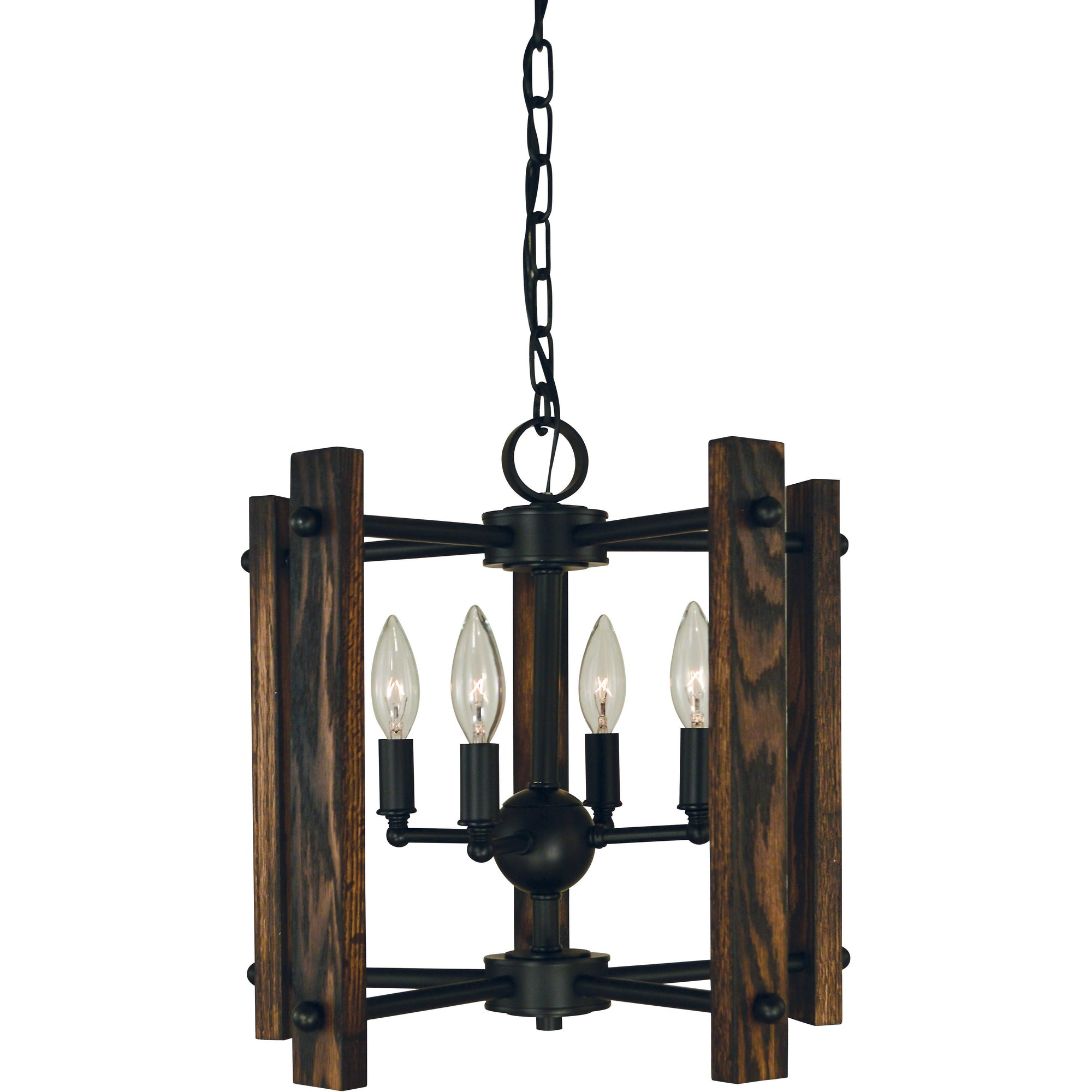 Framburg Dual Mounts Matte Black 4-Light Matte Black Modern Farmhouse Dual Mount Chandelier by Framburg 5400