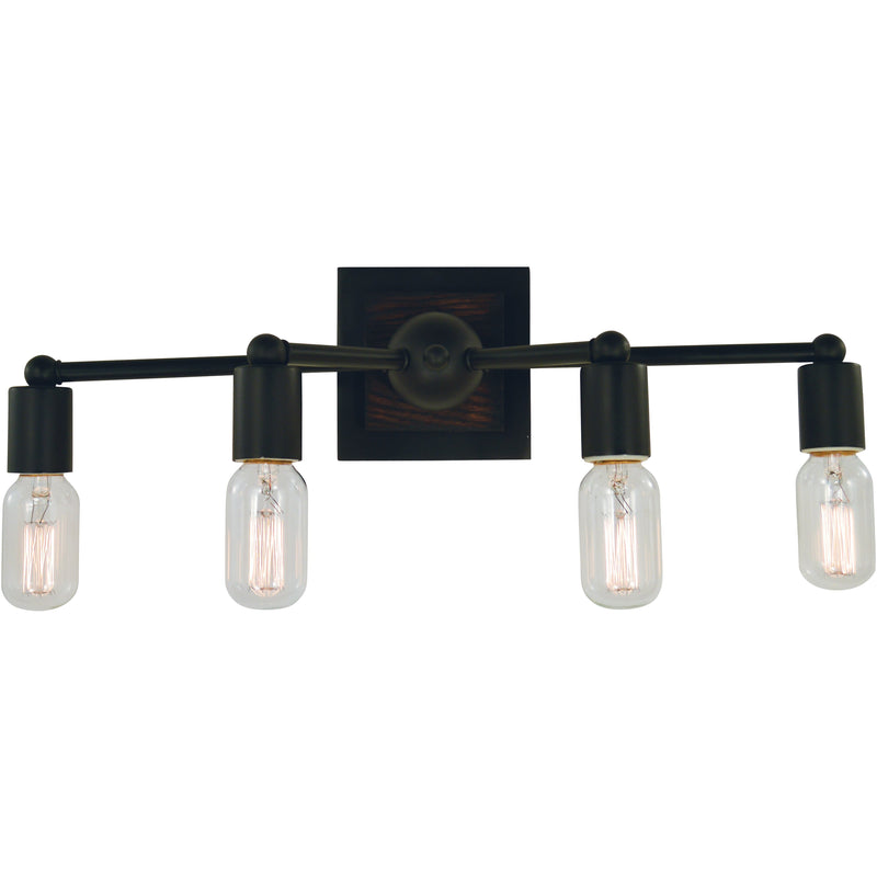 Framburg Wall Sconces Matte Black 4-Light Matte Black Modern Farmhouse Sconce by Framburg 5404