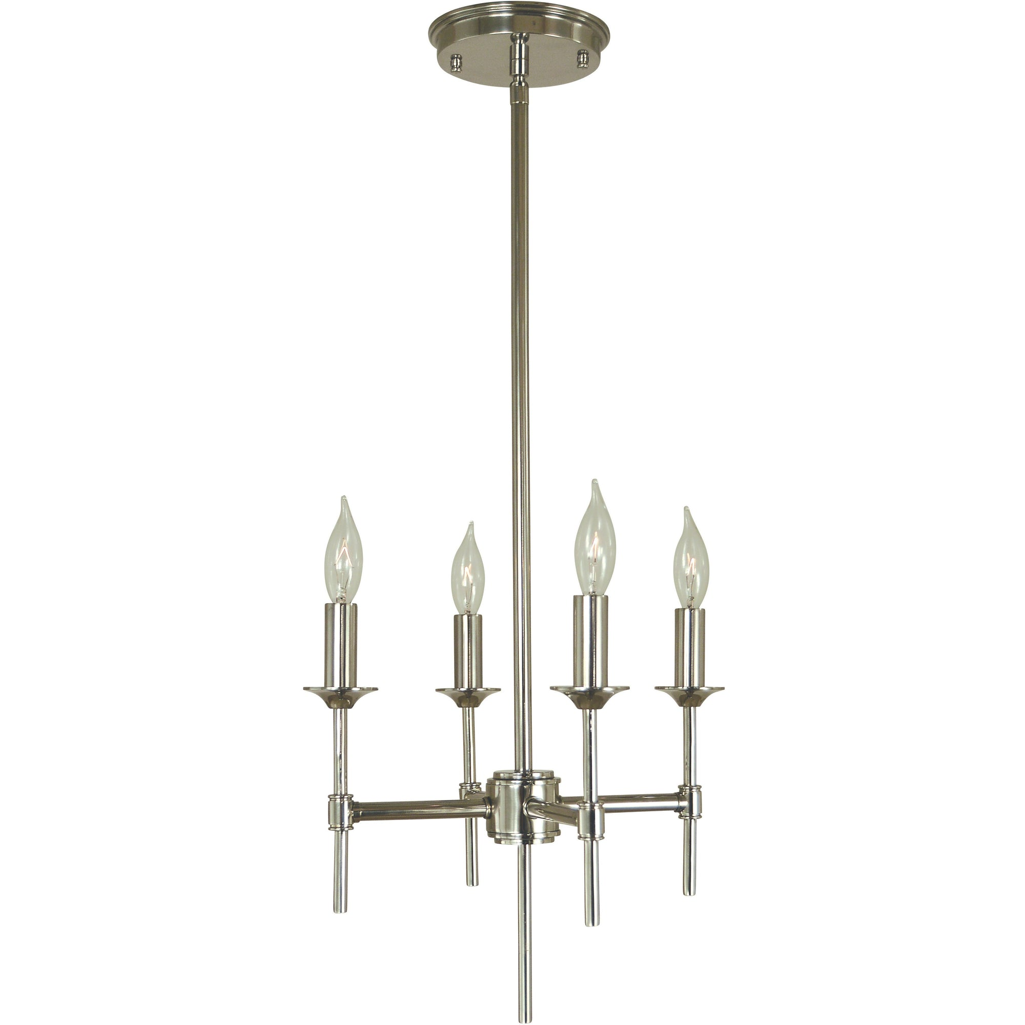 Framburg Mini Chandeliers Polished Nickel 4-Light Polished Nickel Chandler Chandelier by Framburg 4694