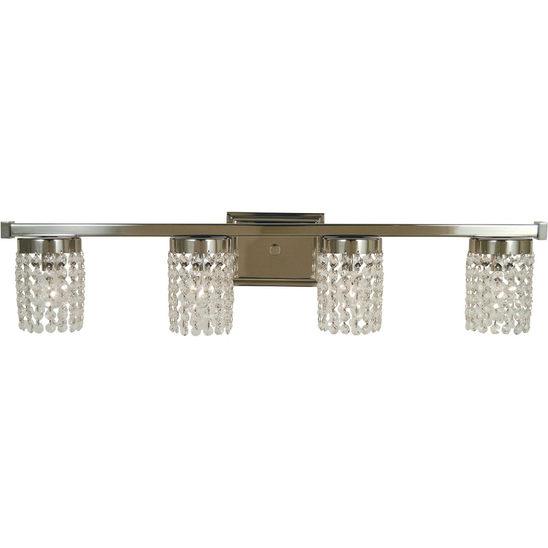 Framburg Wall Sconces Polished Nickel 4-Light Polished Nickel Gemini Sconce by Framburg 4744