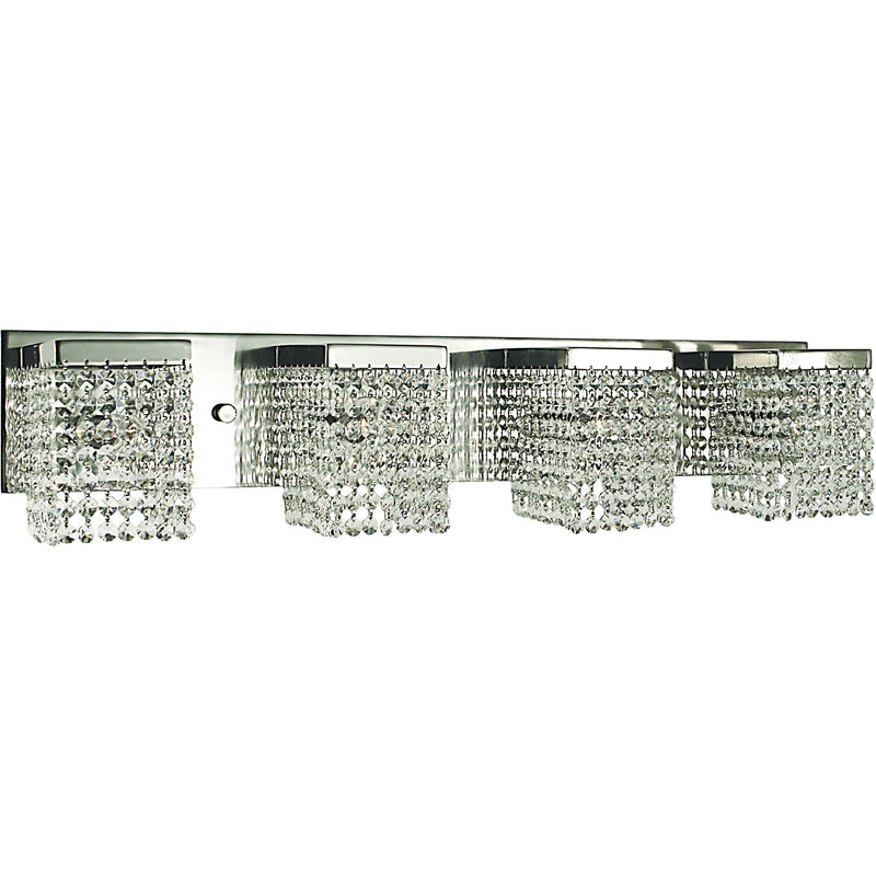 Framburg Wall Sconces Polished Silver with Clear Crystal 4-Light Polished Silver Gemini Sconce by Framburg 1994