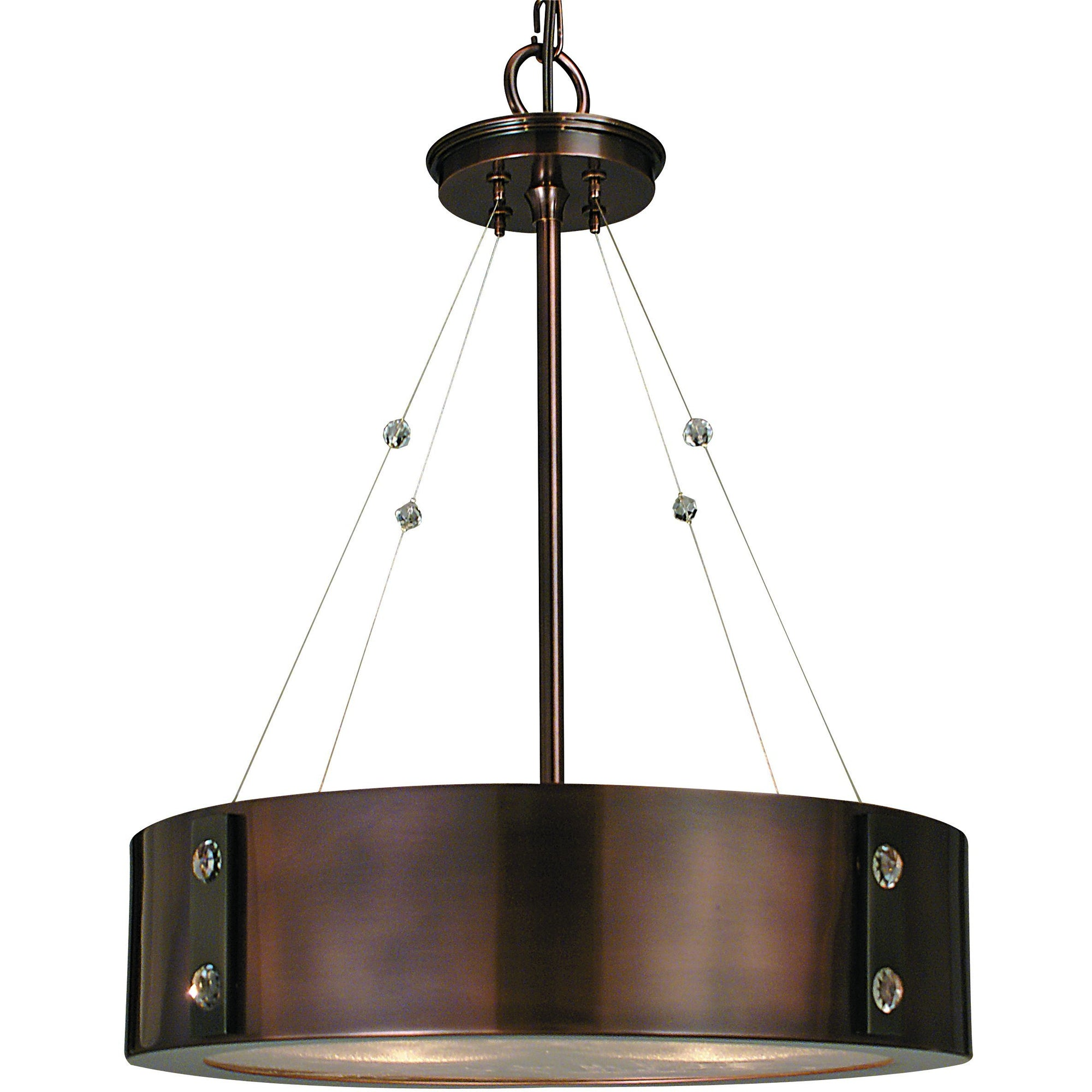 Framburg Chandeliers Roman Bronze with Ebony Accents 4-Light Roman Bronze/Ebony Oracle Dinette Chandelier by Framburg 5392