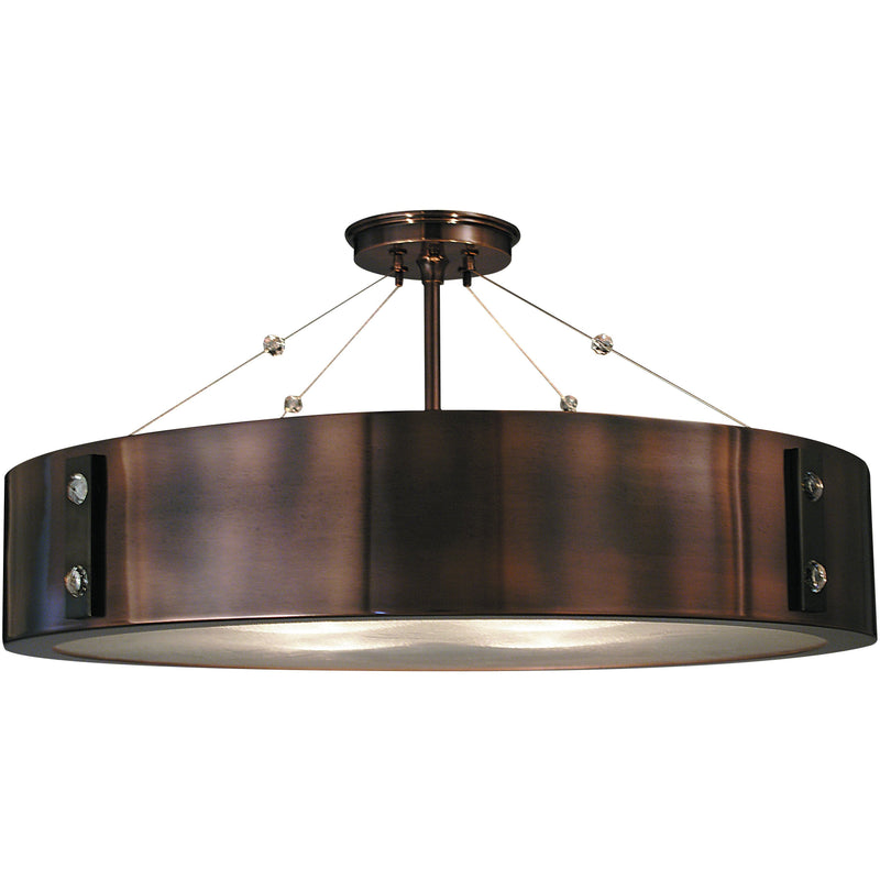 Framburg Flush & Semi Flush Mounts Roman Bronze with Ebony Accents 4-Light Roman Bronze/Ebony Oracle Flush / Semi-Flush Mount by Framburg 5394