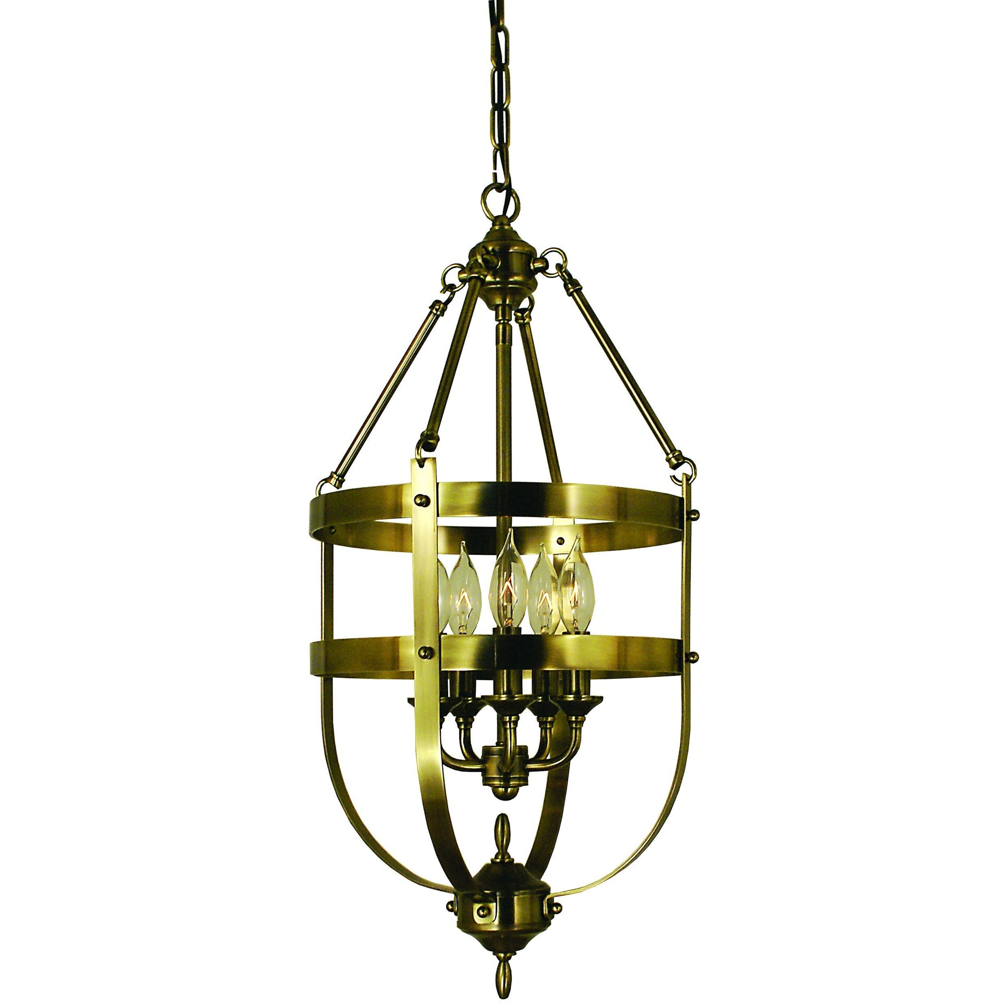 Framburg Chandeliers Antique Brass 5-Light Antique Brass Hannover Dining Chandelier by Framburg 1016