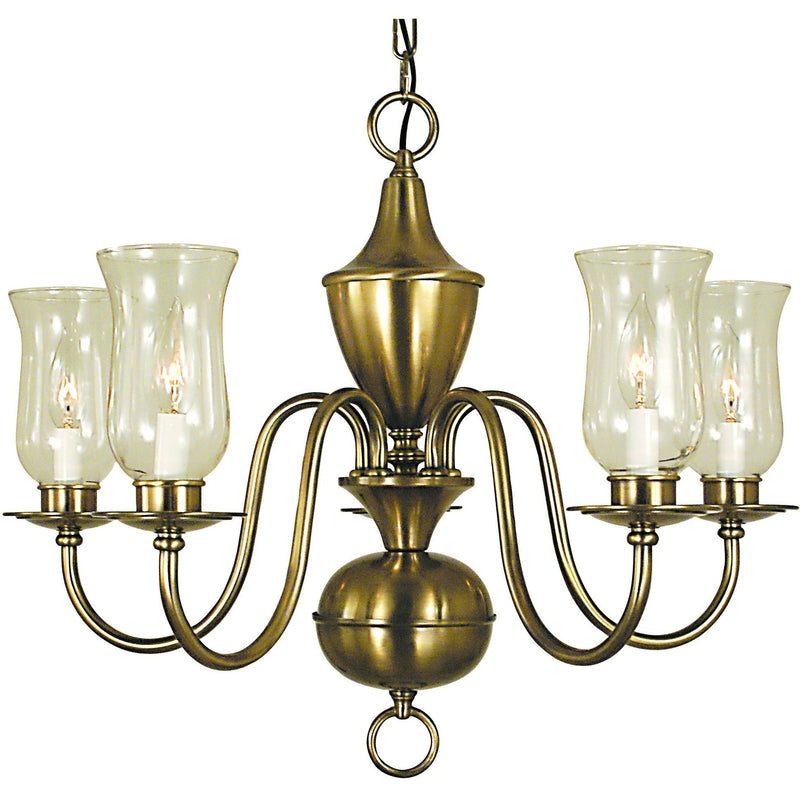 Framburg Chandeliers Antique Brass 5-Light Antique Brass Jamestown Dining Chandelier by Framburg 2545