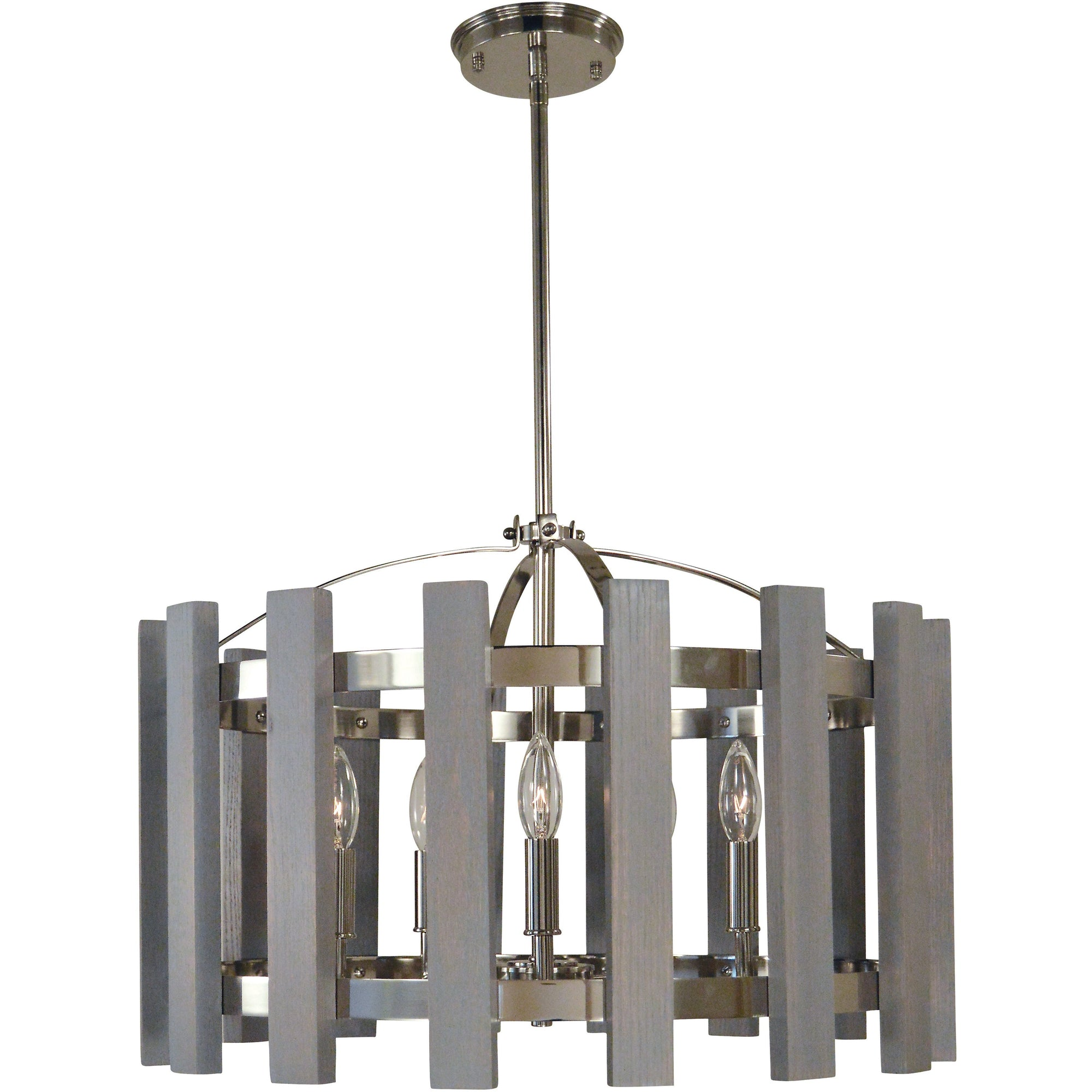 Framburg Chandeliers Polished Nickel 5-Light Arcadia Dining Chandelier by Framburg 5125