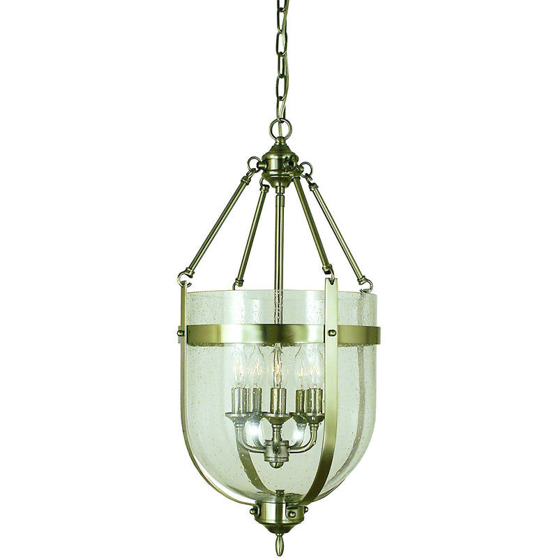 Framburg Chandeliers Brushed Nickel 5-Light Brushed Nickel Hannover Dining Chandelier by Framburg 1015
