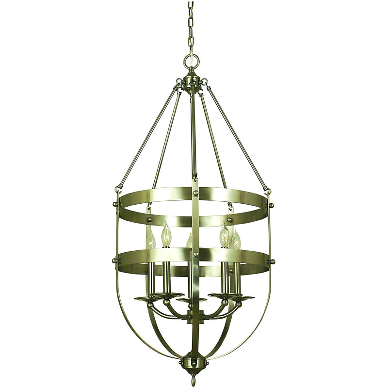 Framburg Chandeliers Brushed Nickel 5-Light Brushed Nickel Hannover Dining Chandelier by Framburg 1017