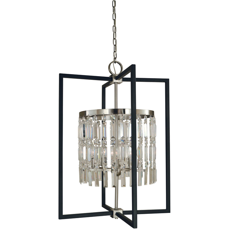 Framburg Chandeliers Brushed Nickel/Matte Black 5-Light Brushed Nickel/Matte Black Hannah Chandelier by Framburg 5332